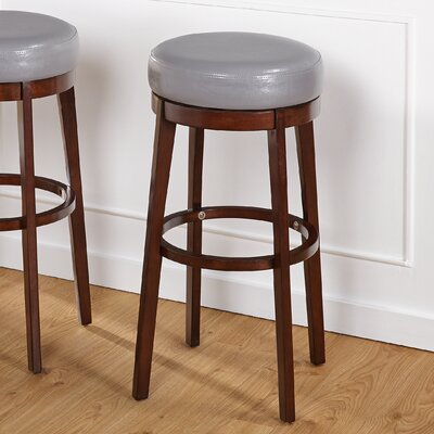 Henley 30 Swivel Bar Stool Upholstery: Gray