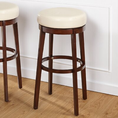 Henley 30 Swivel Bar Stool Upholstery: Cream