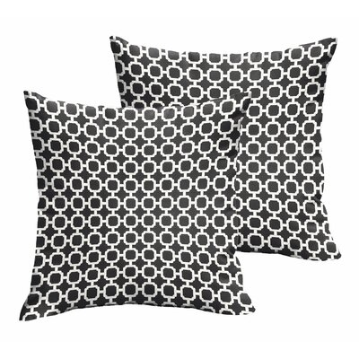Samantha Geometric Indoor/ Outdoor Throw Pillows Size: 18
