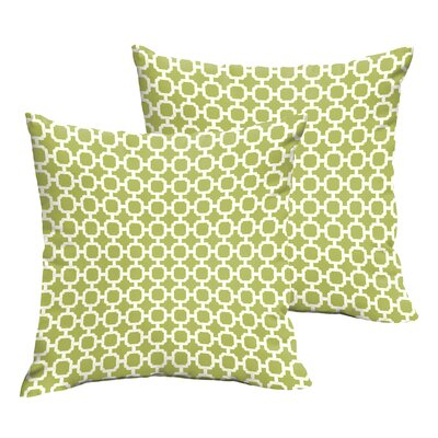 Samantha Geometric Indoor/ Outdoor Throw Pillows Size: 18 H x 18 W x 6 D, Color: Pear Green