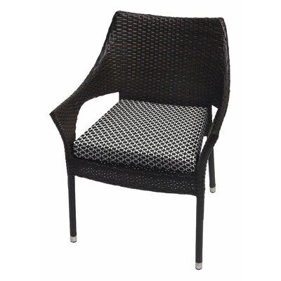 Samantha Geometric Dining Chair Cushion Size: 2.5 H x 18 W x 18 D, Fabric: Black