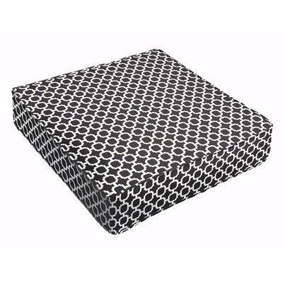 Samantha Outdoor Cushion Fabric: Black
