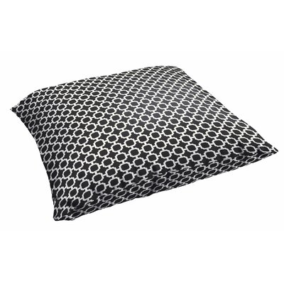 Samantha Polyester Euro Pillow Color: Black