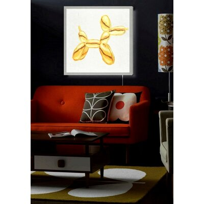 'Balloon Dog Lux' Graphic Art Print on Wrapped Canvas