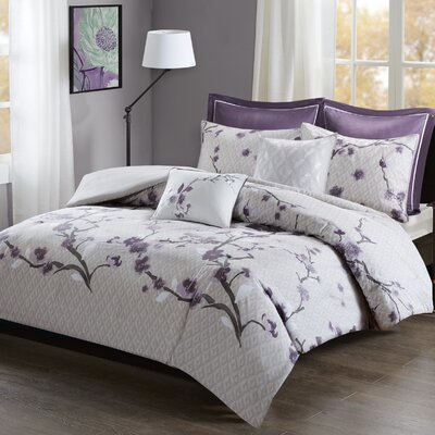 Buchanan 7 Piece Duvet Cover Set Size: King/California King, Color: Purple