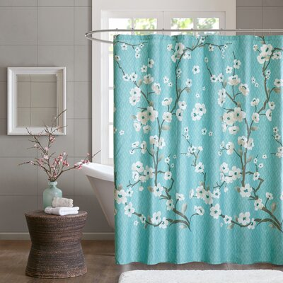 Buchanan Cotton Shower Curtain Color: Teal