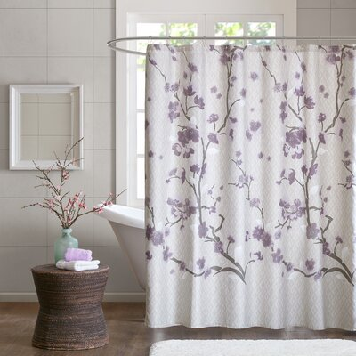 Buchanan Cotton Shower Curtain Color: Purple