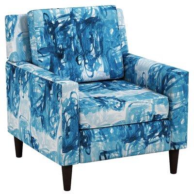 London Block Blue Arm Chair