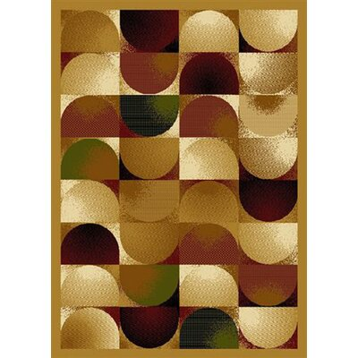 Jordan Waves Brown Area Rug Rug Size: 5 x 8