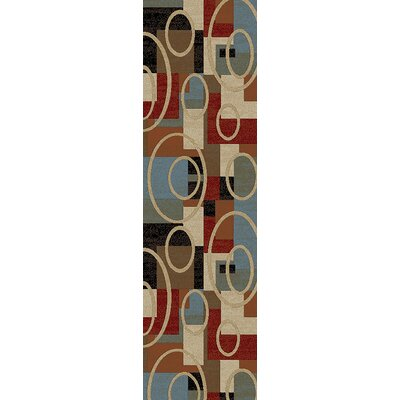 Pelletier Broadway Blue/Beige Area Rug Rug Size: Runner 2 x 8
