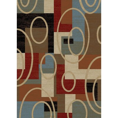 Pelletier Broadway Blue/Beige Area Rug Rug Size: Rectangle 5 x 8