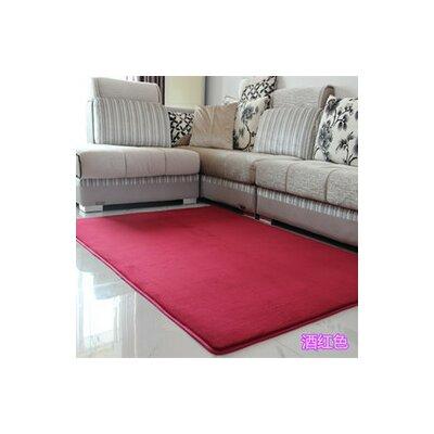 Makenna Real Red Area Rug Rug Size: 5 x 8