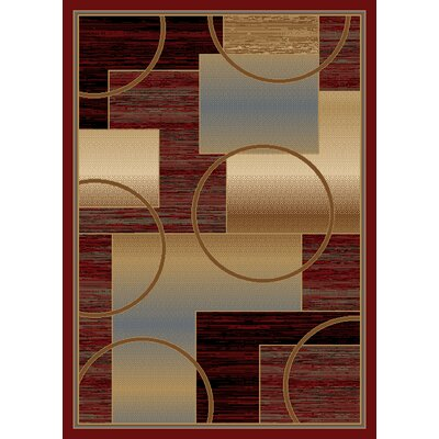 Jordan Red Area Rug Rug Size: 8 x 10