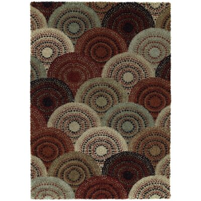 Catherine Red/Beige Area Rug Rug Size: 5 x 8