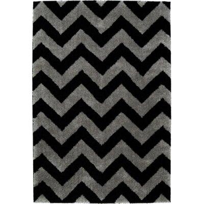 Ava Black/Gray Area Rug Rug Size: 5 x 8
