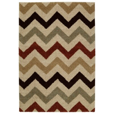Ava Beige Area Rug Rug Size: 5 x 8