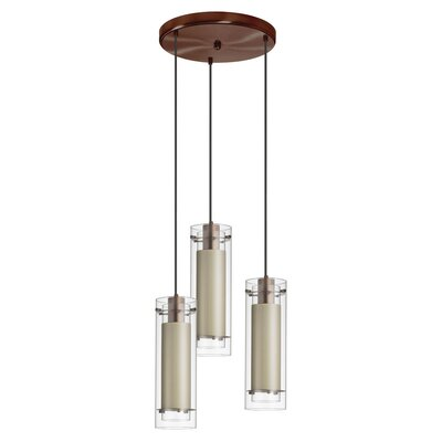 Wilton 3-Light Pendant Shade color: Tan