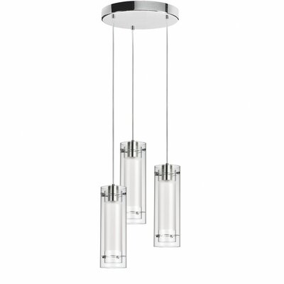 Wilton 3-Light Pendant Shade color: White