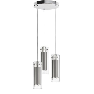 Wilton 3-Light Pendant Shade color: Steel
