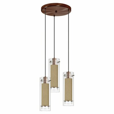 Wilton 3-Light Pendant Shade color: Latte