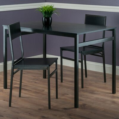 Springfield 3 Piece Dining Set Finish: Antique Bronze