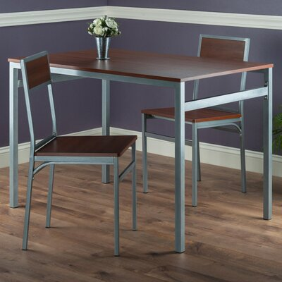 Springfield 3 Piece Dining Set Finish: Teak