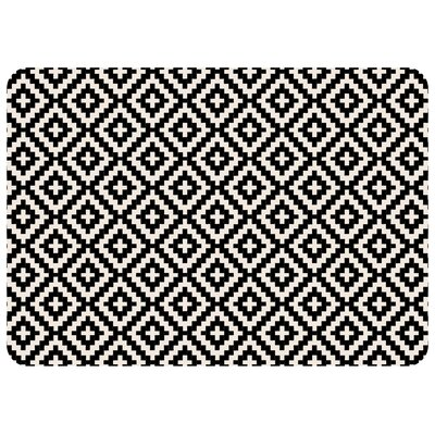 Kaden Byzantine Diamonds Doormat Color: Ebony