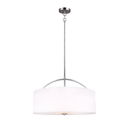 Orleans 3-Light Drum Pendant Finish: Brushed Nickel