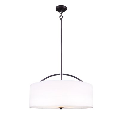 Orleans 3-Light Drum Pendant Finish: Oil Rubbed Bronze