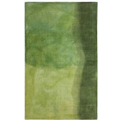Vicente Hand-Tufted Green Area Rug Rug Size: 5 x 8