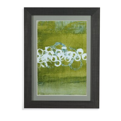 Green Orbs I Framed Painting Print