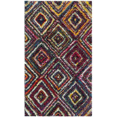 Gleno Red/Yellow Area Rug Rug Size: Rectangle 3 x 5
