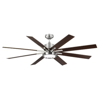 60 Woodlynne 8 Blade Outdoor Ceiling Fan with Remote