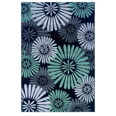 Cheyanne Black/Blue Area Rug Rug Size: Rectangle 5 x 77