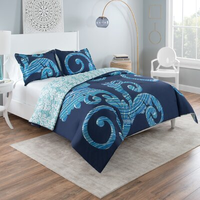 Liza Reversible Comforter Set Size: Full/Queen