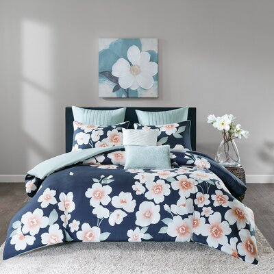 Celestine 7 Piece Reversible Duvet Set Size: King/California King
