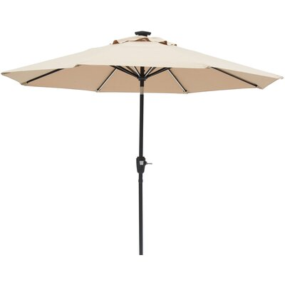 Ryleigh 8.10 Next Gen Solar Lighted Illuminated Umbrella Color: Taupe