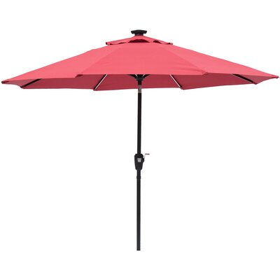 Ryleigh 8.10 Next Gen Solar Lighted Illuminated Umbrella Color: Scarlet