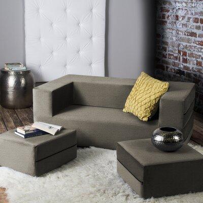 Eugene Modular Loveseat & Ottoman Sleeper Upholstery: Mocha