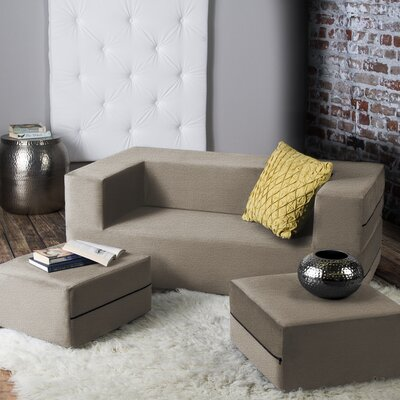 Zipcode Design ZPCD1727 Eugene Modular Loveseat & Ottoman Sleeper Upholstery