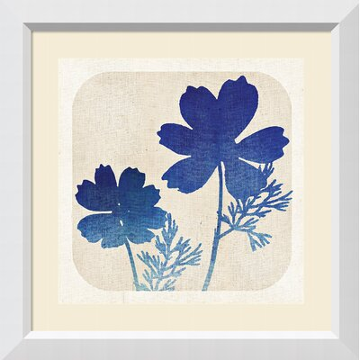 'Batik Garden I (Floral)' Framed Graphic Art Print