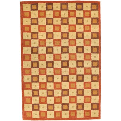 Woodburn Maze Ivory / Rust Contemporary Rug Rug Size: Rectangle 83 x 11