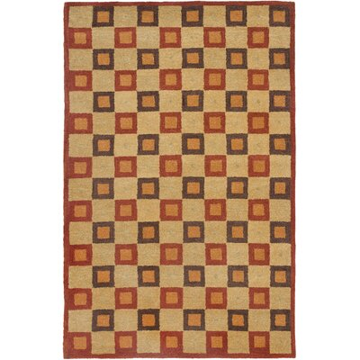 Woodburn Maze Ivory / Rust Contemporary Rug Rug Size: 5 x 8
