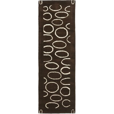 Woodburn Brown/Ivory Area Rug Rug Size: Runner 26 x 8