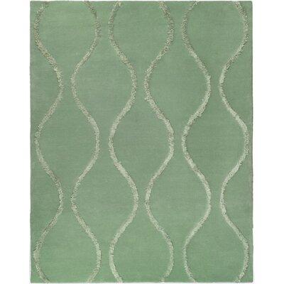 Woodburn Aqua / Green Contemporary Rug Rug Size: 76 x 96