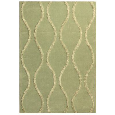 Woodburn Aqua / Green Contemporary Rug Rug Size: 96 x 136