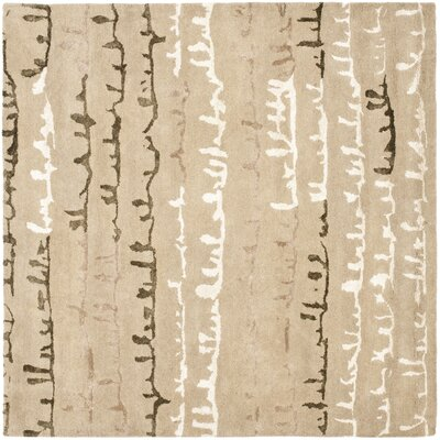 Woodburn Light Dark Beige / Light Dark Multi Contemporary Rug Rug Size: Square 6