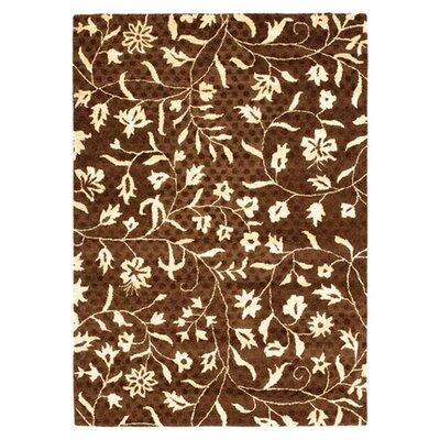 Woodburn Light Dark Brown / Ivory Contemporary Rug Rug Size: 36 x 56