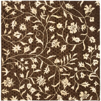 Woodburn Light Dark Brown / Ivory Contemporary Rug Rug Size: Square 6