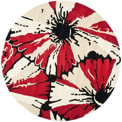 Woodburn Black/Red Area Rug Rug Size: Rectangle 36 x 56